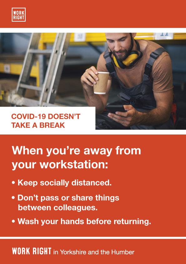 covid-19 taking a break poster