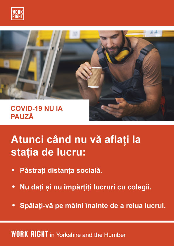 covid-19 taking a break poster in romanian