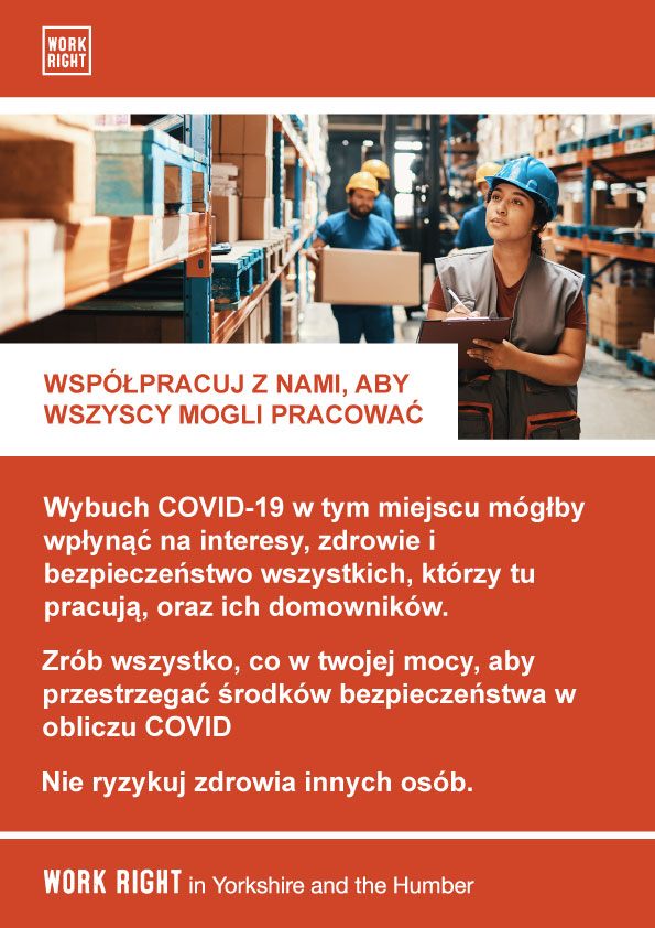 covid-19 work with us poster in polish