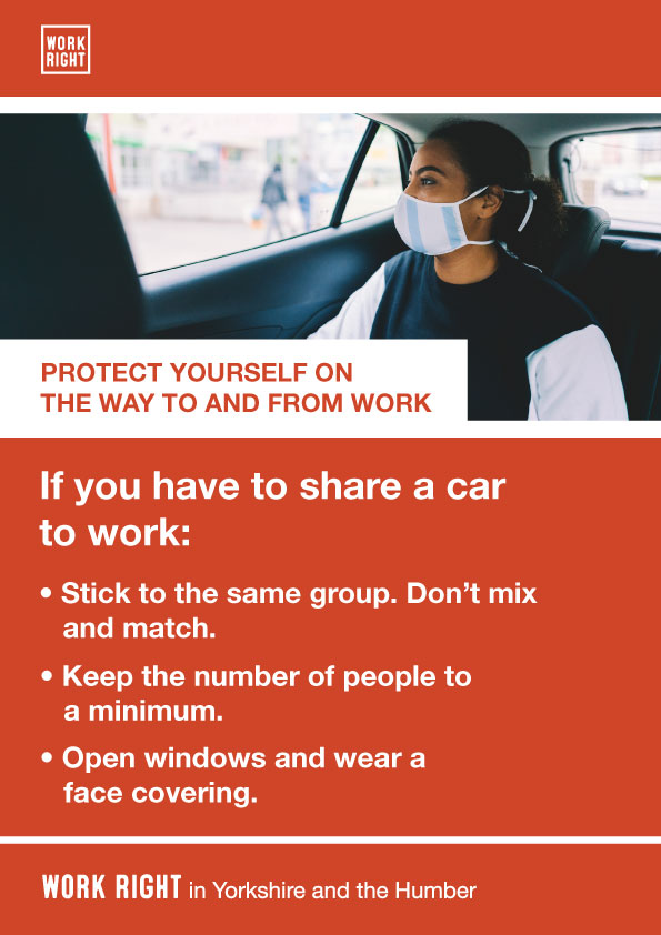 covid-19 protect yourself to and from work poster