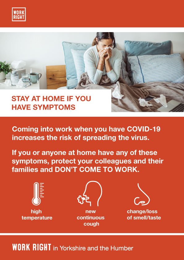 covid-19 stay home if you have symptoms poster
