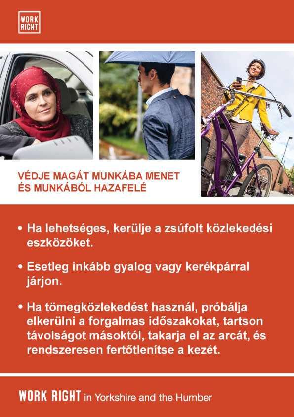 covid-19 protect yourself poster in hungarian