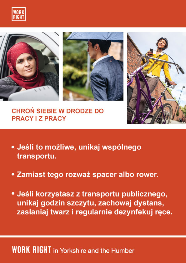 covid-19 protect yourself poster in polish
