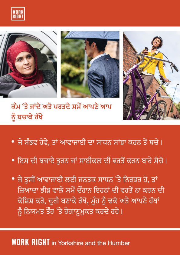 covid-19 protect yourself poster in punjabi