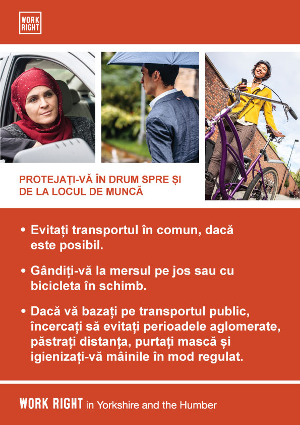 covid-19 protect yourself poster in romanian
