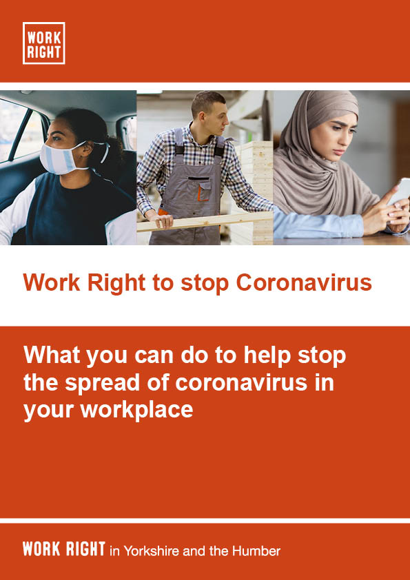 A leaflet to inform how to stop the spread of coronavirus in the workplace - the english version