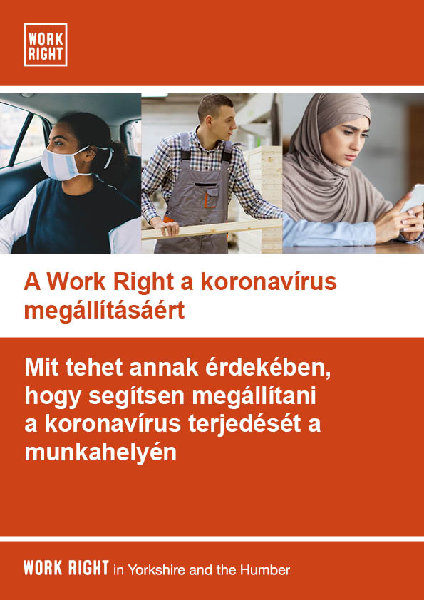 Work right leaflet for employees in hungarian