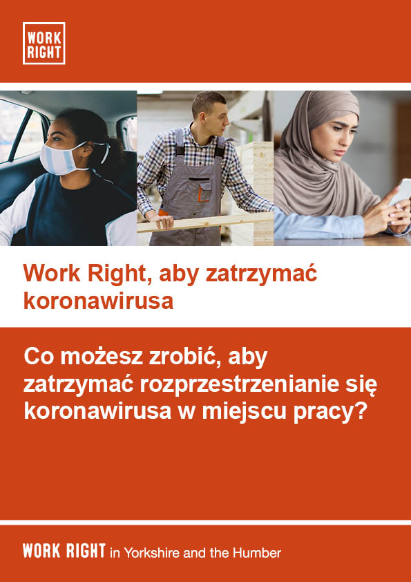 Work right leaflet for employees in polish