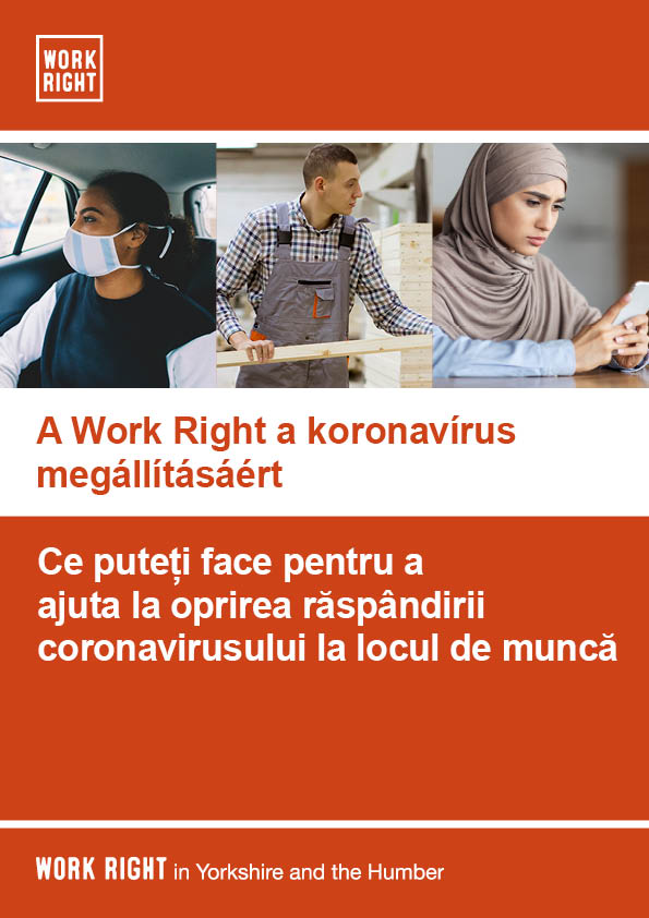 Work right leaflet for employees in romanian